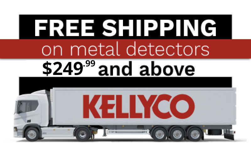 Free Shipping on Metal Detectors 249.99 and Above