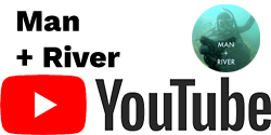 Youtube Logo with Man + River in Black Text Above and Man + River Youtube Image on Right Side