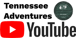 Youtube Logo with Tennessee Adventures in Black Text Above and Tennessee Adventures Youtube Image on Right Side