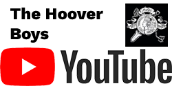 The Hoover Boys Logo with Youtube Logo in Black and Red Below