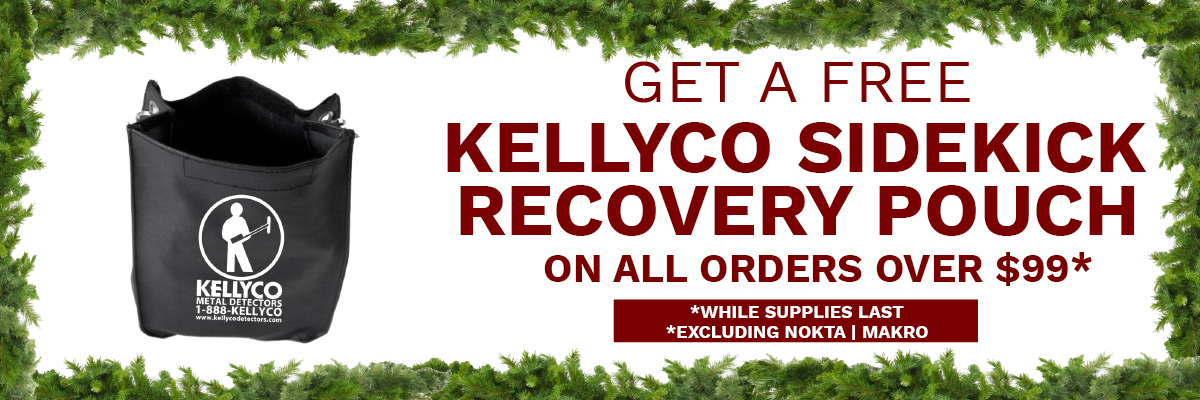 Kellyco Metal Detectors Free Recovery Pouch Offer
