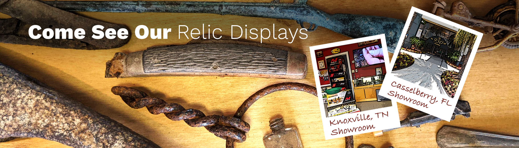 Kellyco Showroom Banner Come Visit Us and See the New Items and Old Relics at our Showrooms in Florida and Tennessee