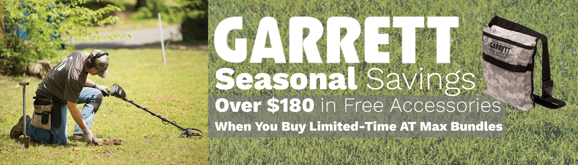 Garrett AT Max Fall Special Bundles 2021 Save Over $180 on Accessories when You Purchase a Special Bundle