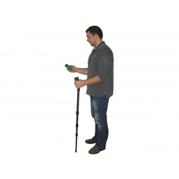 Man on white background holding OKM Rover UC Version A Metal Detector