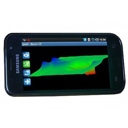 3D images on a smartphone screen from OKM Rover UC Version A Metal Detector
