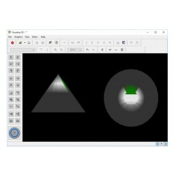 OKM Fusion Professional with Tablet PC displaying 3d shapes to indicate underground finds