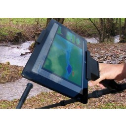 Man's hand shown holding Tablet PC and OKM Fusion Professional Plus