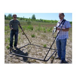 Two men using grid unit from OKM Black Hawk R3 Complete Kit Metal Detector