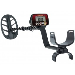 Fisher F22 11DD Metal Detector shown with arm sling near viewer