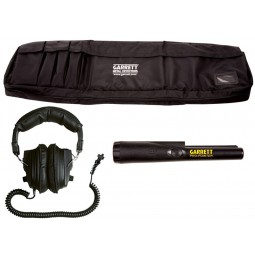 Garrett CSI Pro - All Terrain Metal Detector carrying bag with headphones and Garrett pinpointer