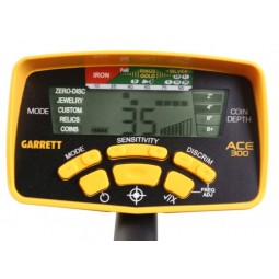 Garrett Ace 300 Control Unit with Display on White Background