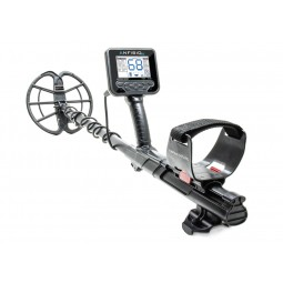 Nokta Makro ANFIBIO 14 Metal Detector in full view with arm sling near viewer