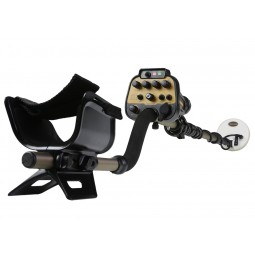 "Nokta Makro AU Gold Finder Metal Detector with 5"" search coil attached"
