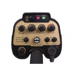 Closeup of Nokta Makro AU Gold Finder Metal Detector Faceplate and dials