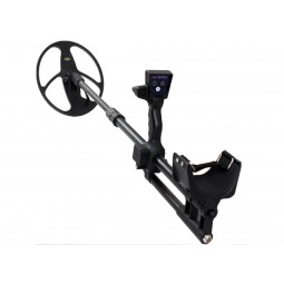 "Nokta Makro Deephunter 3D Pro Package Metal Detector shown with 10x12.5"" Search Coil attached"