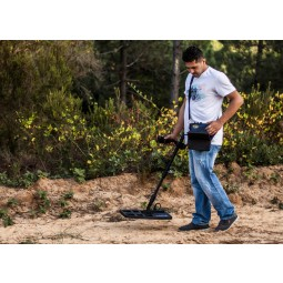 "Man using Nokta Makro Deephunter 3D Pro Package Metal Detector with 14x17"" coil"