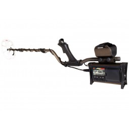 Nokta Makro FORS Gold Standard Package Metal Detector in profile view with coil to the left