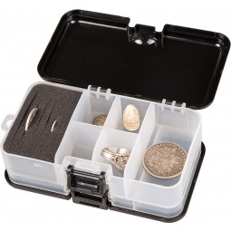 """Garrett Metal Detectors """"Keepers"""" Finds Box open with Relics and Coins on White Background"""