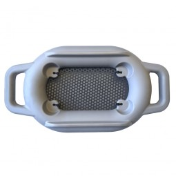 Bottom of Tube Tubb Floating Sifter on White Background