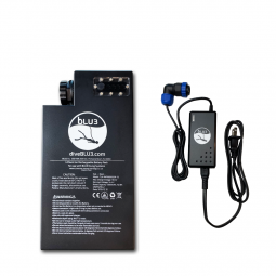 One Battery and Charger for Nemo Diving Apparatus on White Background