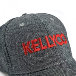 Side angle of a Kellyco Metal Detectors hat