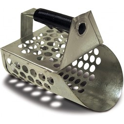 Fisher Galvanized Sand Scoop with Rubberized Grip