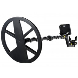 "White's MX Sport Metal Detector with 10"" Search Coil pointing toward the viewer"