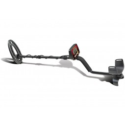 Fisher F22 Weatherproof Metal Detector shown in full profile view with white background