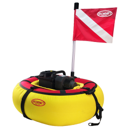 Brownie's Sea LiOn Standard Dive System Yellow Buoy with Red Flag