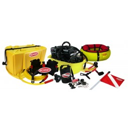Brownie's Sea LiOn Standard Dive System Yellow Buoy with Red Flag and other Accessories