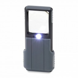 Carson 5x Slide-out LED Lens Magnifier with Protective Sleeve Light View