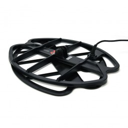 """Minelab 17"""" DD Smart Coil for Minelab CTX-3030 and coil cover stacked on top of each other"""