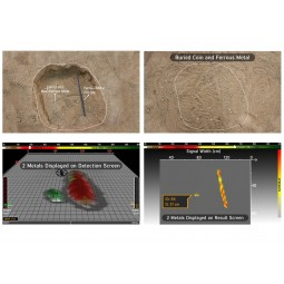 Above ground examples and 3D images produced by Nokta Makro INVENIO Pro Pack Metal Detector With 3D Imaging