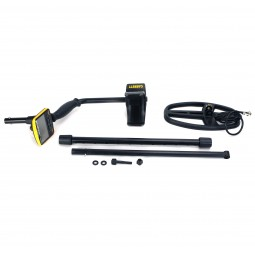 Dissassembled Garrett ACE Apex Metal Detector on White Background