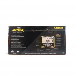 Box of ACE Apex Metal Detector on White background