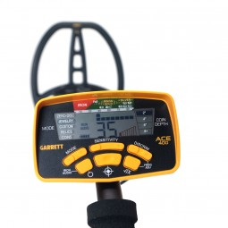 Control Unit of Garrett ACE 400 Metal Detector Assembled on White Background