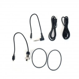 Cords for MS-3 Headphone Kit with Manufacturer Box and Z-Lynk Transmitter on White Background