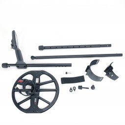 Disassembled Minelab Equinox 600 Metal Detector on White Background