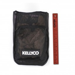 Kellyco Vintage Logo Mesh Finds Pouch full view