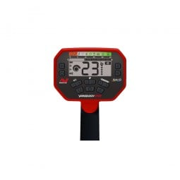 LCD screen and buttons on a Minelab Vanquish 540 Metal Detector