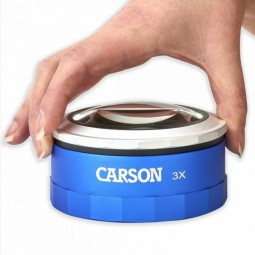 The Carson Magnitouch magnifier in a woman's hand
