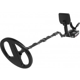 "White's Spectra V3i Metal Detector with 10"" Double D Search Coil closest to viewer"