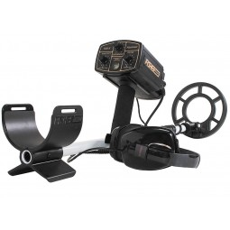 """Arm sling on a Fisher 1280X Metal Detector with 8"""" Search Coil pointing to viewer"""