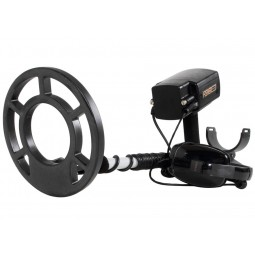 "Fisher 1280X Metal Detector with 8"" Search Coil pointing to viewer"