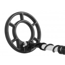 "Close up of 8"" Search Coil on Fisher 1280X Metal Detector"