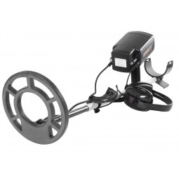 """Fisher CZ-21 Metal Detector with 8"""" Search Coil pointing to viewer"""