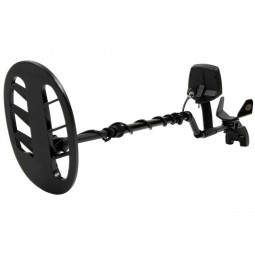 """Fisher F75 Special Edition LTD Metal Detector shown in full view with 10"""" search coil pointing towards viewer"""