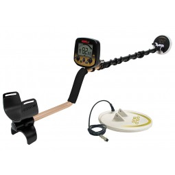"Fisher Gold Bug Pro - 2 Coil Combo Metal Detector shown with Gold Bug 10"" DD Waterproof Search Coil"