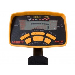 Garrett ACE 250 LCD display and yellow buttons