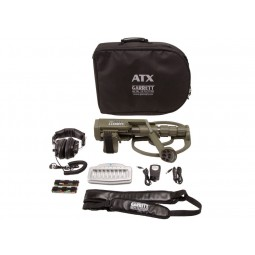 Layout of accessories that come with Garrett ATX Extreme PI Metal Detector from Kellyco Metal Detectors